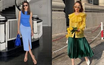Học mỹ nhân Vbiz sắm ngay 5 kiểu chân váy dài đẹp và sang ngút ngàn