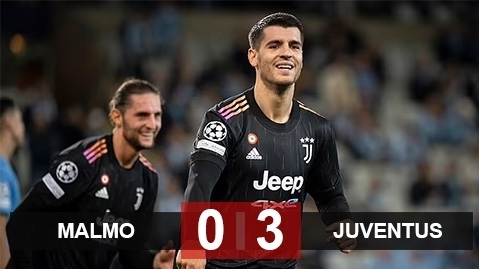 Kết quả Malmo 0-3 Juventus: 'Lão bà' khởi đầu suôn sẻ ở Champions League