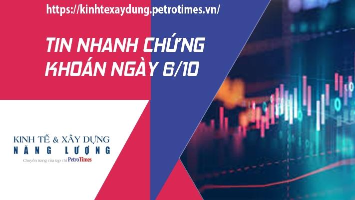 Tin nhanh chứng khoán ngày 6/10: Thị trường tiếp tục hồi phục, VN Index chinh phục thành công mốc 1.360 điểm