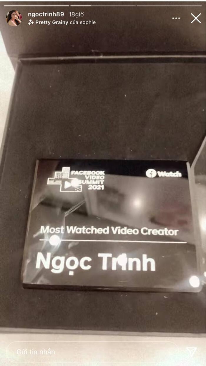 'Nhà sáng tạo nội dung được xem nhiều nhất' gọi tên Ngọc Trinh: 885 triệu lượt xem trong năm qua