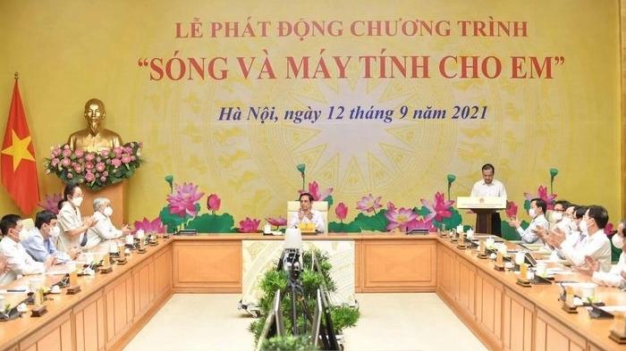 Thủ tướng Phạm Minh Chính kêu gọi ủng hộ hơn 1 triệu máy tính cho học sinh nghèo