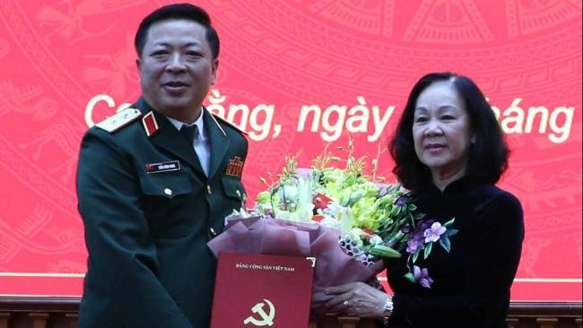 Trung tướng Trần Hồng Minh làm Bí thư Tỉnh ủy Cao Bằng