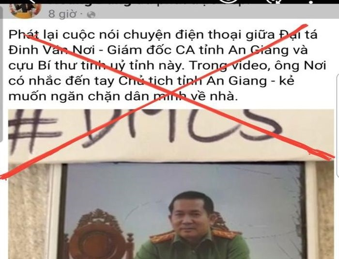 Công an An Giang vào cuộc vụ file ghi âm bịa đặt về đại tá Đinh Văn Nơi
