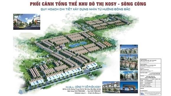 Nhiều sai phạm tại dự án Khu đô thị Kosy Sông Công - Thái Nguyên