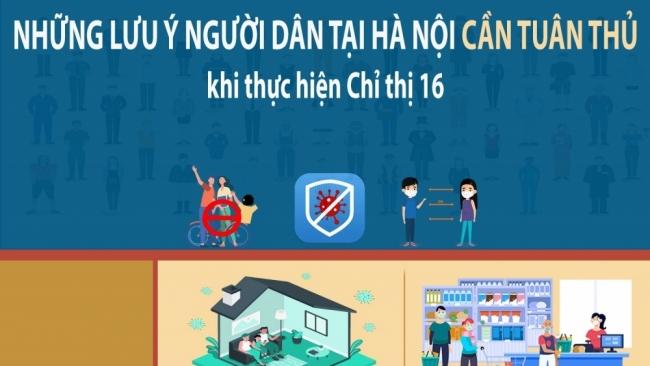 Những lưu ý người dân tại Hà Nội cần tuân thủ khi thực hiện Chỉ thị 16