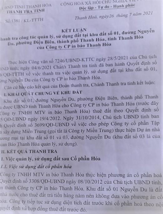 """Thanh Hóa: Phát lộ những vi phạm có hệ thống tại dự án """"đất vàng"""" Nguyễn Du"""
