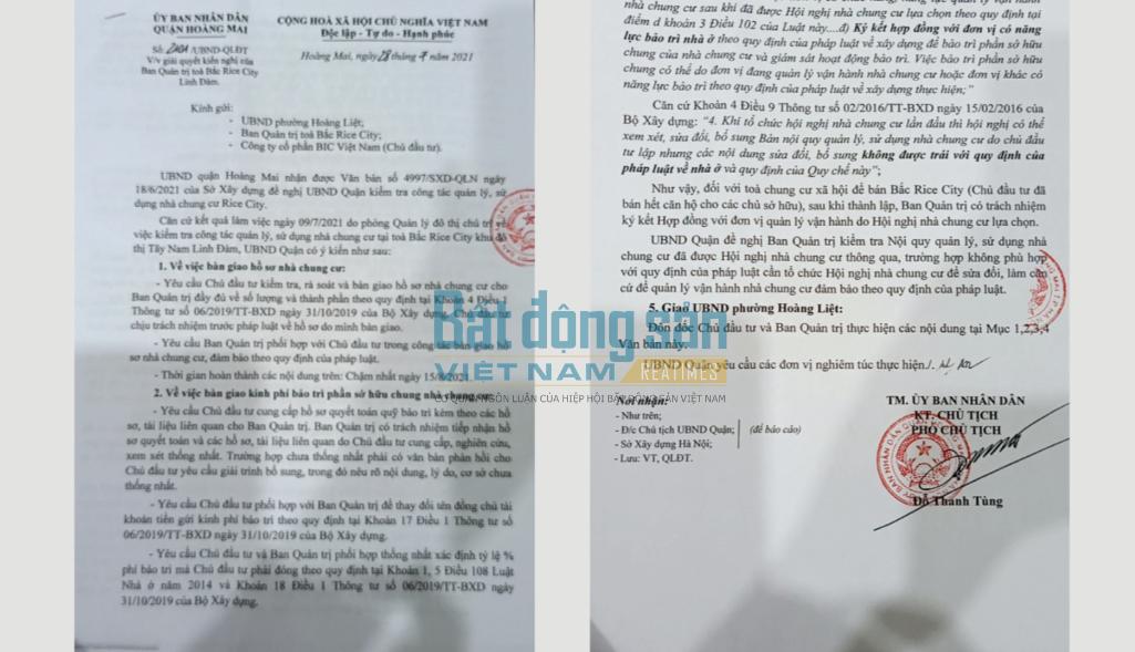 """Hà Nội: Công ty CP BIC Việt Nam """"phớt lờ"""" chỉ đạo của quận Hoàng Mai?"""