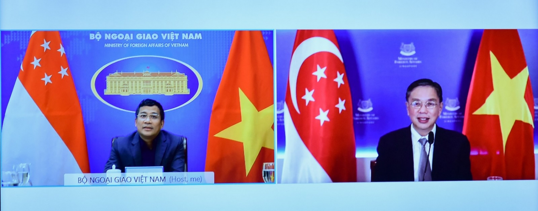 Thứ trưởng Ngoại giao Nguyễn Minh Vũ hội đàm với Bí thư thường trực Bộ Ngoại giao Singapore