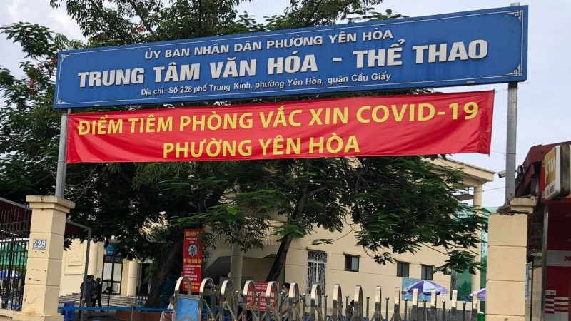 Quận Cầu Giấy: phường Yên Hòa đã hoàn thành vượt mục tiêu tiêm vắc xin phòng Covid-19 cho người trong diện tiêm