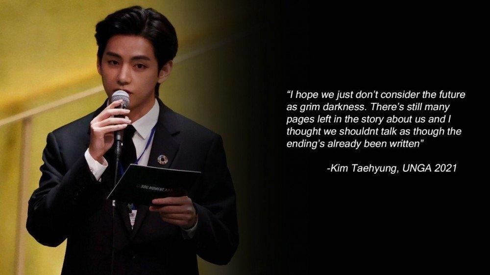 Sao Hàn ngày 21/9: V (BTS) thu hút giới truyền thông với bài phát biểu ở Liên Hợp Quốc