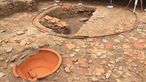 Ninh Bình khai quật khảo cổ phía Nam đền thờ vua Lê Đại Hành và tường Thành Dền