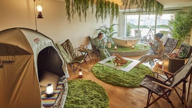 Trào lưu cắm trại trong nhà độc đáo ở Nhật Bản