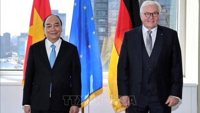 Chủ tịch nước Nguyễn Xuân Phúc tiếp Tổng thống Đức Frank-Walter Steinmeier